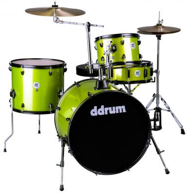 DDRUM D2 Rock Kit Lime Sparkle